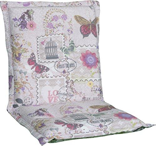 Gartenstuhlauflage Sitzkissen Polster Stuhlkissen für Niedriglehner in Beige Violett Rosa mit...