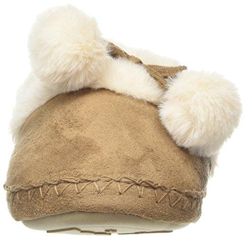Totes Suedette Fur Mule Slippers, Pantoufles Pour Femmes Brown (tan)