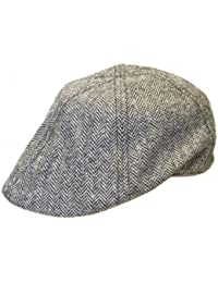 Mens Ladies Quality Fashion Hat Preformed Shape Herringbone Flat Cap Hat