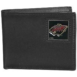 NHL Minnesota Wild Genuine Leather Bi-fold Wallet