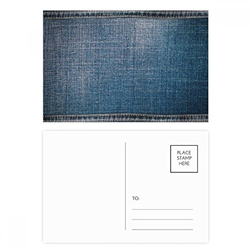 DIYthinker Denim-Jean-Cowboy Futter Textil Postkartenset Geburtstag dankt Karte Mailing Side 20pcs 5.7 Zoll x 3.8 Zoll Mehrfarbig - Paper Denim Tuch