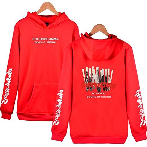 SIMYJOY Lovers KPOP BTS JIMIN Fans Felpe Con Cappuccio Cool Hip Pop Pullover per Uomini Donne Adolescente Rosso