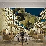 WWMJBH Papier Peint Auto-Adhésif (W) 250X (H) 175Cm3D Géant Internet Bar Bar Cinéma Papier Peint Affiche Murale Murale Peinture Murale Murale 3D Enfants Garçons Filles Chambre Mur Art Salle Salon