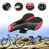 JAUTO Bequemer Mtb Rennrad Fahrrad Sattel Fahrradsattel für Herren Damen Kinder Passt Mountainbike, Meisten Fahrräder