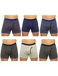 Tom Franks Mens Cotton Boxer Short Trunk (Pack of 6)
