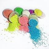 DIY super Bright pigmento multicolor luminose fluorescenti particelle di polvere di sabbia decorativa