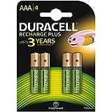 Duracell Lot de 4 piles rechargeables AAA NiMH Idéal pour appareils à haute-consommation comme appareil photo numérique, agenda électronique, console portable