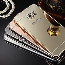 Casos hermosos, cubiertas, Nuevo espejo chapado de vuelta con la caja del teléfono estructura de metal para la galaxia S4 / S5 / S6 / S6 borde / borde s6 + (colores ( Color : Oro Rosa , Modelos Compatibles : Galaxy S6 Edge Plus )