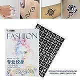 Semme Modello di aerografo per tatuaggio, tatuaggio semi-permanente con piccolo tatuaggio con stencil a forma di farfalla