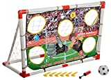 IRIS PRO Soccer Goal Target Nets with 5 Scoring Zones - Practice Shooting