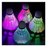 Sunnyshinee LED badminton palla schiuma badminton luminosi (bianco)