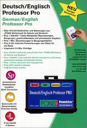 Franklin DBD 3040. Bookman 2 ROM-Karte. Deutsch-Englisch Professor Pro (Sprach-/Erweiterungs-Modul)