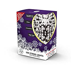 Gifts 4 All Occasions Limited SHATCHI-626 500 - Cadena de luces LED para Navidad, color verde