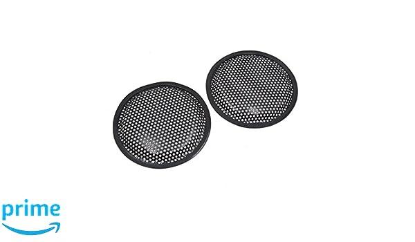 schwarz Metall Gitter Auto Audio Lautsprecher Subwoofer Staubschutz DE de sourcingmap/® 2Stk 6Dmr