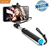 #3: Selfie Stick, Case U Extendable [Battery Free] Wired Handheld Monopod for iPhone SE/6s/6/6 Plus, Samsung Galaxy S7/S6/Edge, Note 5/4, Nexus 6P, LG G5, Moto X/G, Pixel 2 and More (Black)