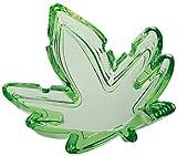 Glas Aschenbecher - Hanfblatt