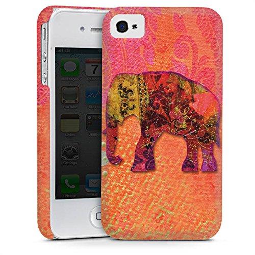Apple iPhone 4 Housse Étui Silicone Coque Protection Éléphant Goa Indien Cas Premium mat