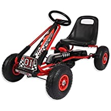 Motor Racing Style Kids Childrens Pedal Go Kart On Rubber Wheels by Beauty4Less
