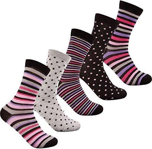 femmes-paquet-de-5-de-luxe-chaussettes-coton-majoritaire-argile-pointillee-chausettes-cadeau-noel-co