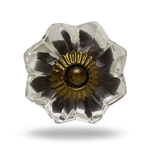 Mellon-Pomello in vetro trasparente, accessori Carol Porta manopola,tira maniglia per Cassetti Armadio da Trinca-Ferro