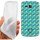 CUSTODIA COVER CASE MEMPHIS PATTERN CELESTE PER SAMSUNG GALAXY TREND PLUS S7580