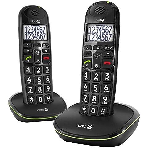 Doro PhoneEasy 110 - Teléfono (DECT, Negro, AAA, Polifónico, Escritorio, Monochrome) (importado)