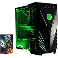 VIBOX Submission 29 Water Cooled Desktop Gaming PC -  with WarThunder Game Bundle (4.2GHz AMD FX Eight Core Processor, Nvidia Geforce GTX 960 Graphics Card, 2TB Hard Drive, 16GB RAM, Green Gamer Case, No Operating System Included)