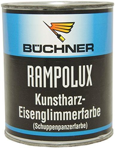 Büchner Rampolux Kunstharzlack / Farbton Eisenglimmer Silbergrau, 2,5 L / Kunstharz Eisenglimmerfarbe Schuppenpanzerfarbe