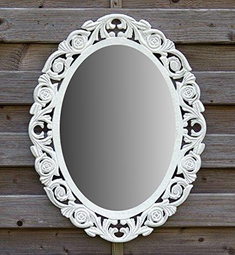 amadeco Wandspiegel Spiegel Oval Barock Gothic als Badspiegel Frisierspiegel Schminkspiegel - Farbe...