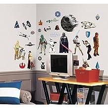 Star Wars RMK1586SCS - Adhesivos de pared clásicos, 31 unidades