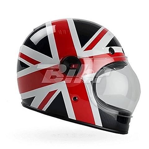 7080965 - Bell Bullitt Carbon Spitfire Motorcycle Helmet XL Blue Red