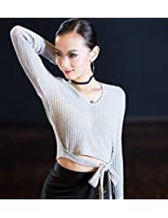Abrigo de lana de chaqueta de invierno MS danza práctica , m , light gray