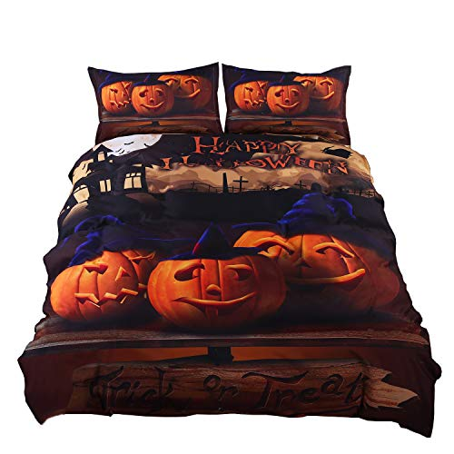 en Set Geschenk 3D Print Zombies Bettbezug Set Twin/Full/Queen/King Size 4-Teilig Festival Dekoration Betten, Polyester-Mischgewebe, Pattern#01, Twin ()