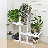 Présentoir de fleurs végétales multicouches Support à fleurs durable en bois massif Supports de présentation pour plantes succulentes à 4 couches Support de stockage de plantes à présentoir pour plant