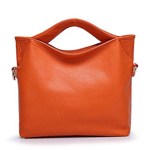 Damen Handtaschen Große Kapelle Lychee Muster Handtaschen Retro High End Eimer Tasche Schultertasche Messenger Bag C
