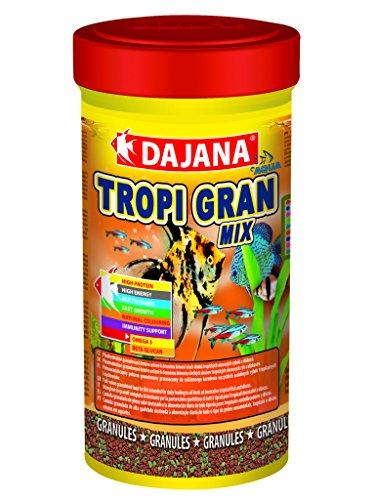 Dajana Tropi Gran Mix - Mangime completo in granuli, per tutti i tipi di pesci tropicali e discus (100 ml)