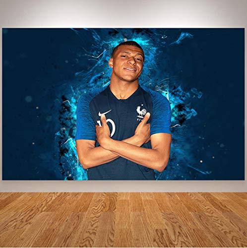 yhnjikl Ratto Art France National Team Griezmann Poster Benzema Mbappe Kante Pogba Giroud Sport Stampa su Tela Pittura murale Cuadros 40X60Cm Senza Cornice