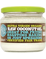 100% Pure Natural Raw Virgin Organic Coconut Oil, Hair Skin Nails Cooking 300g