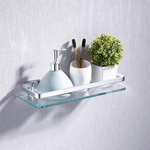 Kes mensola da bagno in vetro mensola doccia mensole bagno con bordo in alluminio 1 pezzo, a4126a