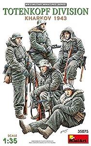 Unbekannt- Totenkopf Division (Kharkov 1943) Figuras, Color Gris (MiniArt 35075)