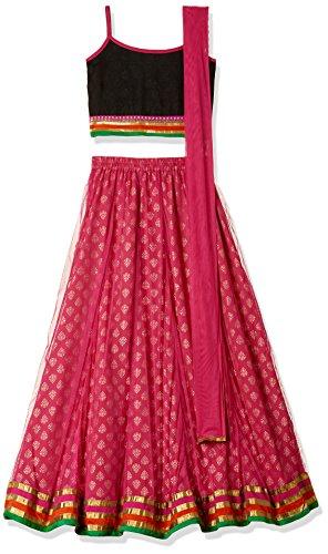 TWISHA Girls' Regular Fit Ghagra Choli (AW17-XP-GCH124-14y_Pink)