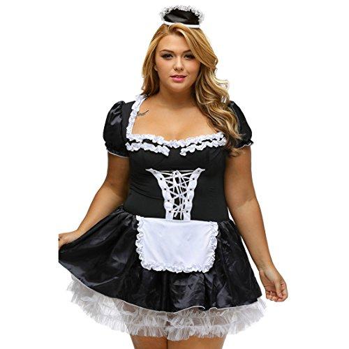 Slocyclub Damen Französische Maid Schürze Kostüm Fancy Kleid