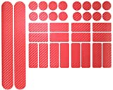 Fahrrad Aufkleber Rahmen Schutz Carbon Folie MTB BMX Ketten Streben Rahmenschutz (Carbon Rot)
