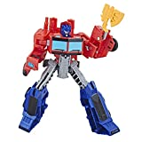 Hasbro Transformers E1901ES0 - Cyberverse Action Attackers Warrior Figur Optimus Prime Roboter-Actionfigur