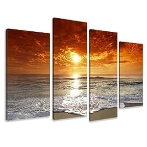 Image sur toile 130 x 80 cm Modèle N° XXL 6038 de vacances Tableaux pour le mur, encadrés, prêts à poser, toutes les images sur châssis géant bois véritable.