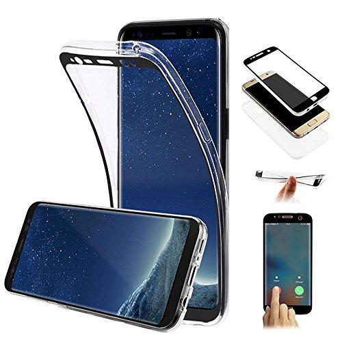 Galaxy J3 2017 Hülle,Galaxy J3 2017 Silikon Hülle,JAWSEU Schutzhülle Samsung Galaxy J3 2017 Hülle [Glitzer Strass Ring Stand Holder], Luxus Glitzer Bling Diamant Strass Spiegel TPU Case für Samsung Ga 360 Grad:Schwarz