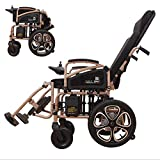 AA100 Fully lying lightweight folding electric wheelchair elderly automatic aluminum alloy four-wheeled scooter large capacity lithium battery (12A)