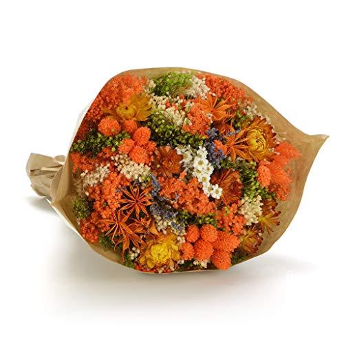 Bouquet fantasy (arancio) sanremo fiori essiccati dalla riviera dei fiori - realizzato a mano