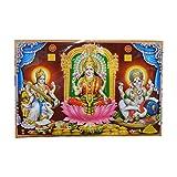 XL Poster Lakshmi Sarasvati Ganesha 146 x 96 cm Gottheit Hinduismus Kunstdruck Religion Spiritualität Dekoration Indien