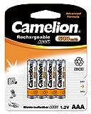 Realcom - Recargable aaa 600mah (4 pcs) camelion